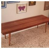 Mid Century Slit Slat bench/table