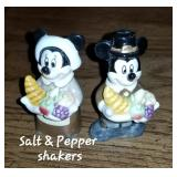 Disney Thanksgiving Salt & Pepper Shakers