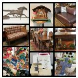 Entire Estate full of designer furniture, decor, collectibles, outside items, tools, +++