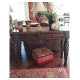 Matching ornate end tables and sofa table