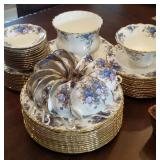 "GORGEOUS Royal Albert ""Moonlight Rose"" china set"