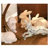 Rabbit figurines - Easter is coming !!!