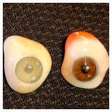 Vintage Prosthetic glass eyeballs !!!!!