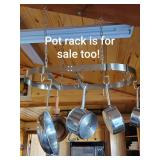 The Pot Rack is for Sale too!