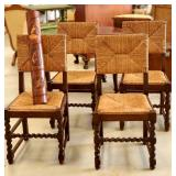 beautiful antique barley twist cane chairs