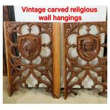 Vintage Carved Religious Wall Hangings