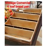 Vintage Commercial 4 Loaf Bread Pan
