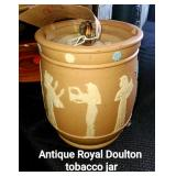 Antique Royal Doulton Tobacco Jar