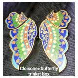 Cloisonne Butterfly Trinket Box
