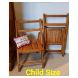 Child Size Wooden Folding Chairs