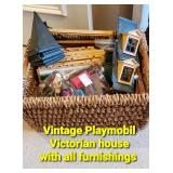 Vintage Playmobil Victorian House with all furnishings