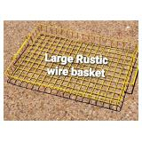 Large Rustic Wire Basket