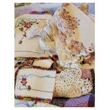 Lots of vintage Linens
