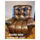 Brand New Leather Lift Chair