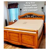 King Size Temper-pedic bed with Massage