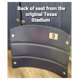 Original Texas Stadium Seat Back
