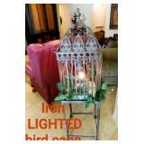 Iron Lighted Birdcage