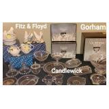 Fitz & Floyd, Candlewick, Gorham