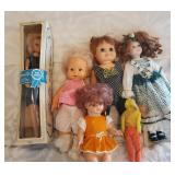 Several collector dolls