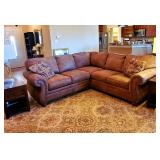 Nice leather sectional