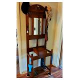 Beautiful antique hall tree/stand