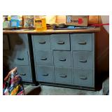 Garage FULL of tools & these great industrial toolbox cubbies
