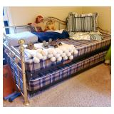 Brass trundle bed