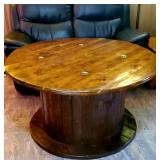 BEAUTIFUL (HUGE!) wooden antique wire spool would make an awesome table !!!!