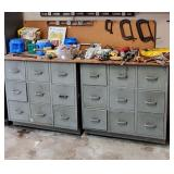 AWESOME vintage METAL industrial tool cabinets/cubbies