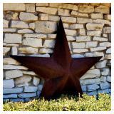 Large RUSTIC IRON STAR
