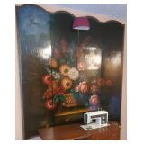 large lacquer 4 fold screen