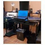 Office equipment (Computers, printers, shredder, office supplies, desks, etc...)