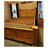 KING size rustic/western/Texas bed