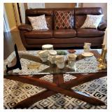 Beautiful leather living room furniture