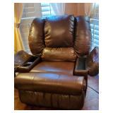 Electric MASSAGE & HEAT leather rocker recliner