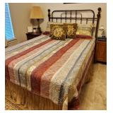 Beuatiful QUEEN size iron bed - PRISTINE CONDITION !