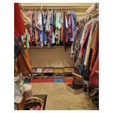Several PACKED closets full of clothes and shoes.  All clothes are a L - 1x, and most shoes are Sket
