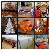 50% OFF! Denton estate packed with 100+ Longaberger baskets, furn, appliances, outdoor furn, tools +