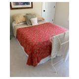Queen Bed $175 Bedding $50 (Blankets on rack NFS)