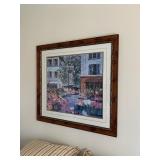 French Flower Shop Framed Print $130