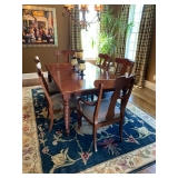 Ethan Allen Livingston Mahogany Dining Table with 6 Chairs $1000