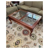 Chippendale Style Glass Top Cocktail Table $195