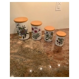 Set of Portmeirion Canisters $60