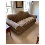 Apartment Size Camelback Sofa $210