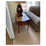 Leather Top Side Table $75 as is