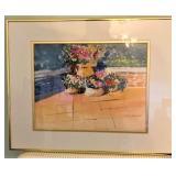 """""""Courtyard Plants"""" Thomas Wilczewski Framed Watercolor"""