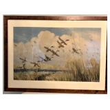 Ducks in Flight Print Peter Scott 1934 Framed