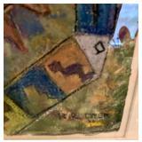 """Chimayo"" Dick Deyer Pastel on Paper Local Artist"