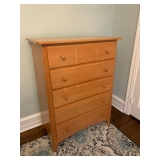 ROGANNI BLONDE WOOD CHEST OF DRAWERS $130
