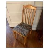 Single Blond Wood Chair $45